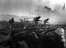 6x4 Gloss Photo ww5065 World War 2 Pictures Russian Stalingrad Assalt 09