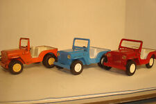 LOT OF 3 VINTAGE TONKA TOY TRUCK,MINI TONKA JEEPS #1030 FOR CAR CARRIER OR PARTS