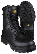 Amblers FS009C Waterproof Safety Mens Black Composite Toe Cap Boots Shoes UK4-14