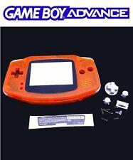 Coque de remplacement orange transparent neuve pour Nintendo Game Boy advance