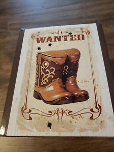 Western Cowboy Boots Wax Tart Warmer Wax Melt Candle Holder Burner ScentSations