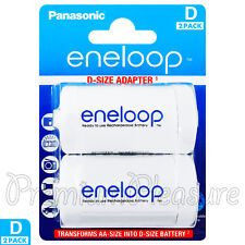 2 x Eneloop D Size Adapter Transforms AA battery Converter Spacer Adaptor BQBS1E