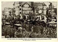 Winterschlacht in Masuren * Kaiser auf dem Marktplatz von Lyck Bilddokument 1915