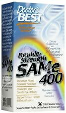 Doctor's Best, SAM-e 400, double-strength, 30 enterica rivestite con film.