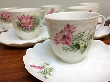 A. Giraud & Brousseau Limoge France 1 Demitasse Cup Saucer Handpainted Floral