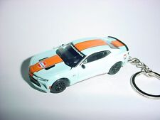 NEW 3D 2016 GULF CHEVROLET CAMARO SS CUSTOM KEYCHAIN keyring KEY CHAIN 16' RACE!