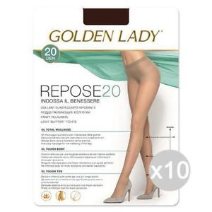 Set 10 GOLDEN LADY Repose 20 Castoro 4 Calze Collant Da Donna Abbigliamento E Ac