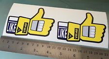 """Valentino Rossi VR46 Thumbs Up Glove / Rossi Facebook """"LIKE"""" Stickers / Decals"""