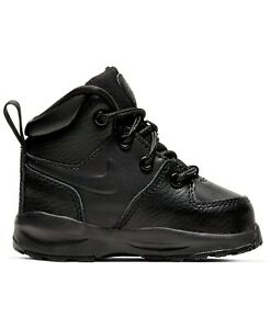 Nike Little Kids Manoa Leather Boots 7C-10C Black New