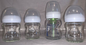 Avent Dr Browns Glass Baby Bottles 4 ounce Lot