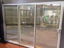 SLIDING DOOR | ALUMINIUM - DOUBLE GLAZED - 2110H X 3010w | Matt Silver