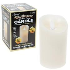PMS Christmas Battery LED Glow Dancer Flame Candle - Cream - Choose Size