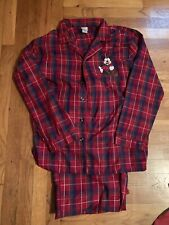 Mickey Mouse Mens Graphic Sleep Wear Lounge Sleepwear Red/Green Set Size Small