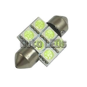 1 White SMD LED 31mm Festoon 12v Interior LED Bulb