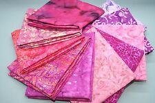 Mystery Batik Pink and Purple Fat Quarter Bundle 10 pieces Quilt/Patchwork