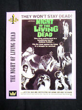 """1""  SUPER CINEMA - DUE EMME "" TRADE CARD""- NIGHT OF THE LIVING DEAD - ROMERO"