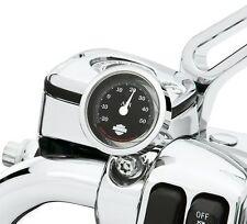 "Harley-Davidson NEW  OEM ORIGINAL Handlebar Thermometer 1.5"" Black  Celsius"
