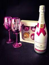 MOET Chandon Ice Imperial Rose 0,75l 12% vol + 2 BICCHIERI + 4 palline di Natale