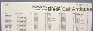 Original Force Model Index Chart - Micro-Catalog Parts System May 1995