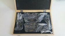 TRADE QUIP 4 PIECE 0-100MM OUTSIDE MICROMETER SET