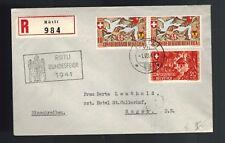 1941 Bad Ragaz Switzerland Rutli Bundesfeier Einschreiben Registered Cover