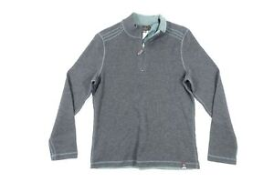 JACHS CM46-396-JM7 HALFZIP MOCK NECK REVERSIBLE SMALL GRAY GREEN SWEATER NWT