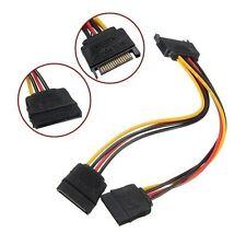 Cable Alimentacion Divisor Convertidor Disco Duro 19cm 15Pin M-2F SATA C3