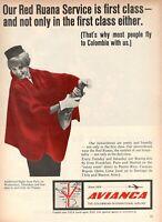 1967 Original Advertising' Vintage Avianca The Colombian International Airline 2