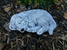 Steinfigur großer Beagle liegend  Hund  Frostfest Wetterfest Steinguss