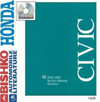 2002 2003 2004 2005 Honda Civic Hatchback Shop Service Repair Manual CD