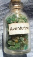 1 x 5 MM BOTTLE OF SMALL  GEMSTONES AVENTURINE WITH CORK STOPPER