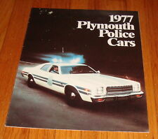 Original 1977 Plymouth Police Cars Sales Brochure Gran Fury Volare