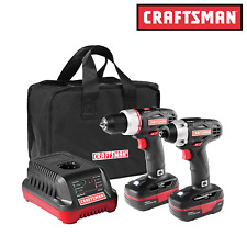 Craftsman Cordless Drill and Impact Driver C3 19.2V Combo Kit w/ Case New !!!