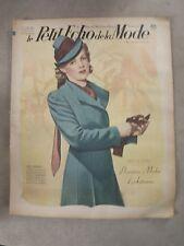 Le petit ECHO de la MODE du 3/09/1939 n°36  1er modes d'automne S166