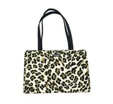 Kate Spade Shoulder Bag Leopard Print Animal Faux Fur Purse Tote