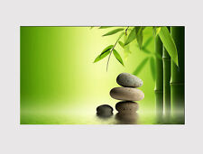 """414 STUNNING BAMBOO ZEN STONES X LARGE 18"""" X 32"""" WALL ART CANVAS PRINT PICTURE"""
