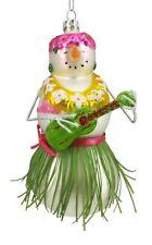 December Diamonds Tropical Snowman Glass Christmas Ornament Decoration 05-05095