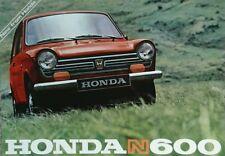 FOLLETO de ventas Honda N600 - #2 de septiembre de 1967