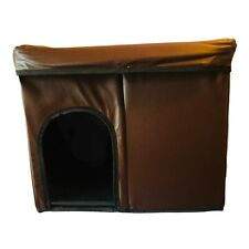 """Dog Or Cat House Bed Collapsible Foldable Soft Removable Lid Travel 23""""x19""""x15"""" ;"""