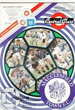 Macclesfield Town v Stockport County 1992/3 (5 Dec) FA Cup