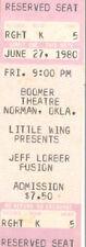 Jeff Lorber Fusion Concert Ticket 1980