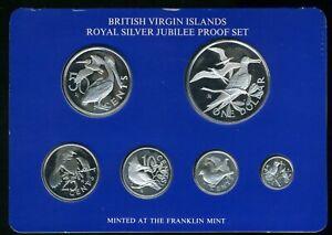 1977 British Virgin Islands Royal Silver Jubilee Proof (6) Coin Set JE643