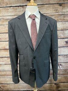 NWT Billionaire Couture Wool Suit 46R (Pant Waist: 39) Gray
