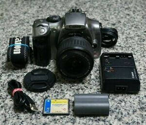 Canon EOS Digtal Rebel 300D 6.3MP DSLR Camera W/ 18-55mm Lens, Extras Tested F/S