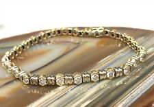 Ladies 3.75 CTTW Natural Diamond 18k Two Tone White & Yellow Tennis Bracelet TLW