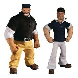 Mezco Toys One:12 Collective Popeye & Bluto Stormy Seas 1/12 Scale Action Figure