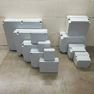 Waterproof Electrical Junction Box Outdoor Adaptable Enclosure Plastic All Sizes