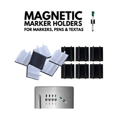 Magnetic Whiteboard Marker Holders, for Markers, Pens, Texta, Dry Erase | 6-pack