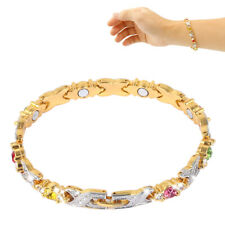 Ladies Magnetic Healing Health Bracelet Diamond For Arthritis Pain Relief