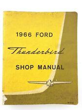 1966 Ford Thunderbird Shop Manual Ford Motor Company Canada Car Care Book S873